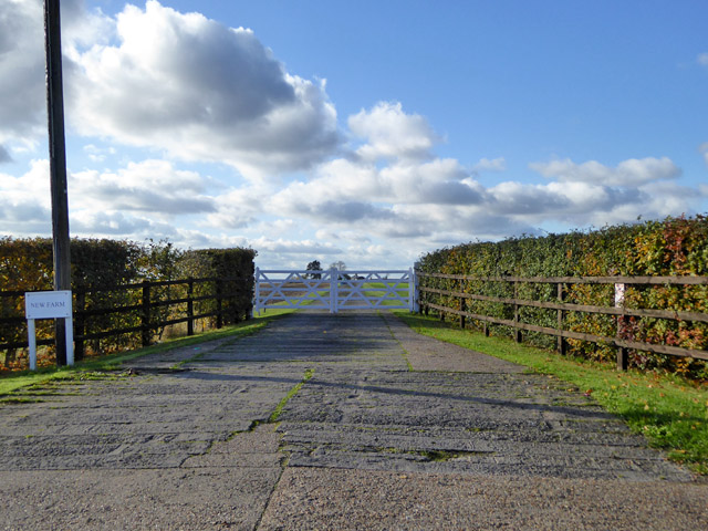 Gated drive to New Farm