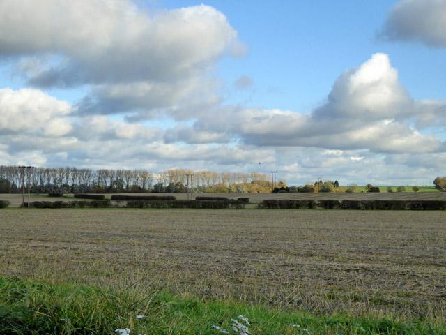 Farmland east of Abbotsley