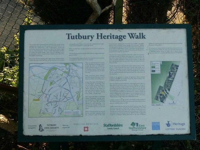 On the Tutbury Heritage Walk