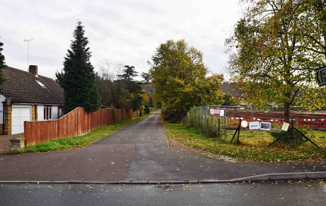 Access lane to Gossmore Recreation Ground, Marlow, Bucks
