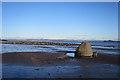 NT2975 : Erratic on the Beach by Anne Burgess