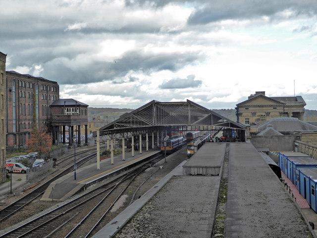 Huddersfield Station from Westgate Bridge
