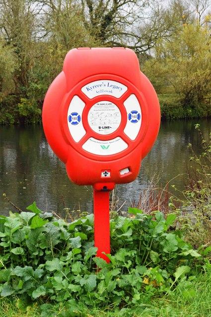 Lifebuoy by the River Thames, Marlow, Bucks