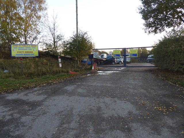 Entrance to Eggborough Quarry
