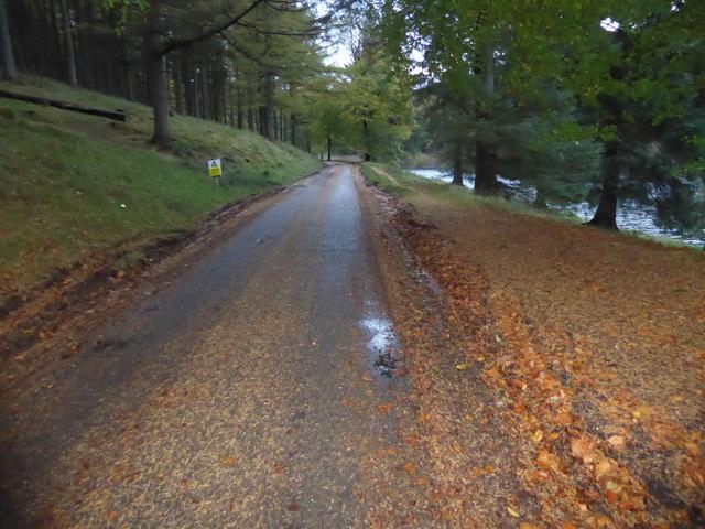 Road alongside Howden Reservoir