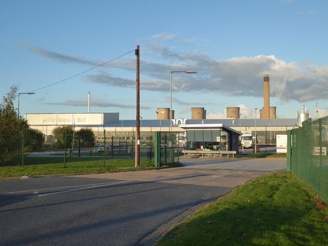 Entrance to St Gobain glass factory, Eggborough