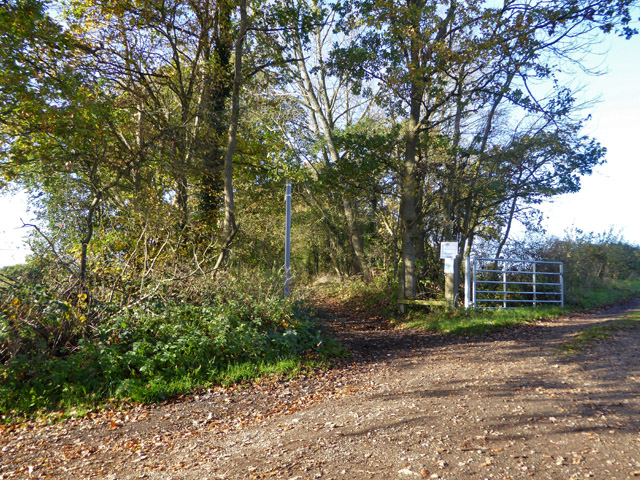 Public byway west from West End Lane