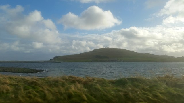 Compass Head from the approach road to Sumburgh Airport