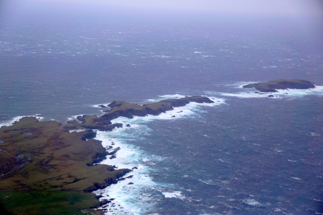 Ness of Burgi and Horse Island from the air