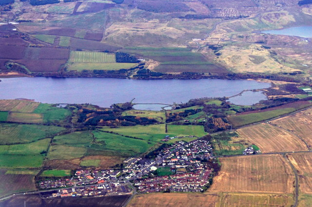 Loch Fitty and Kingseat from the air