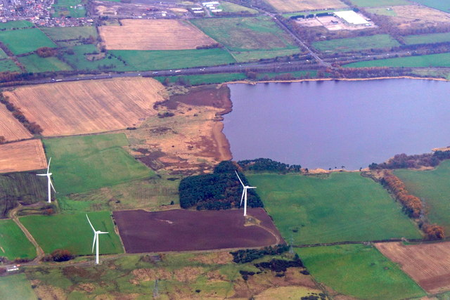 Loch Gelly from the air