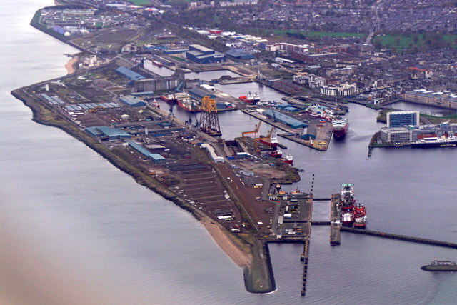 Leith docks from the air