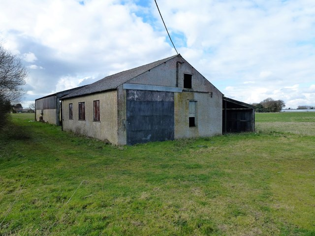 Empty buildings at Station Farm in Wisbech St Mary