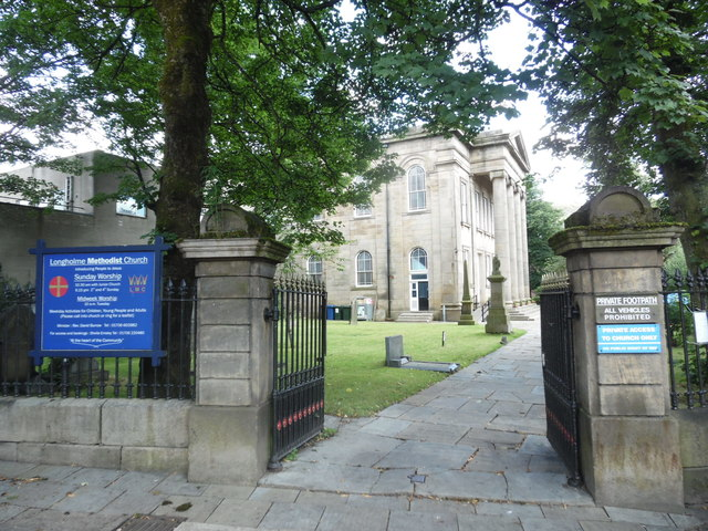 Entrance to Longholme Methodist Church, Rawtenstall