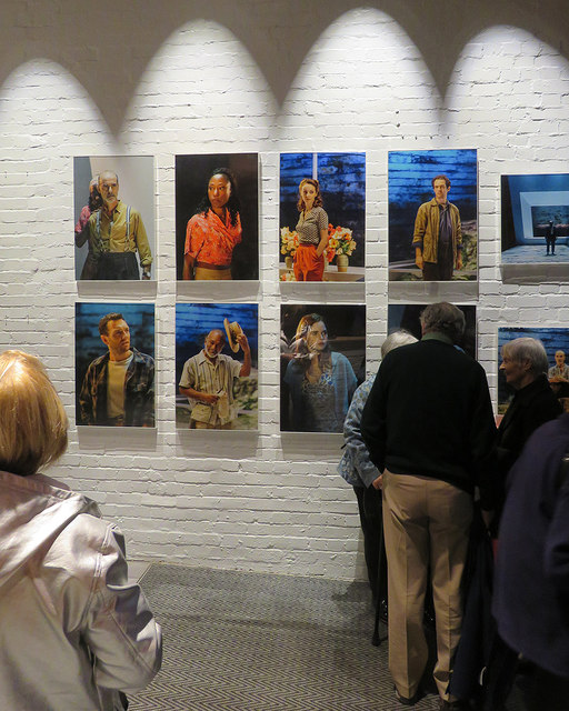 In the foyer of the Donmar Warehouse theatre