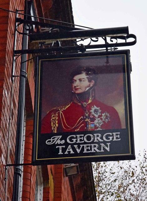 The George Tavern (2) - sign, 42 George Street, Oldham