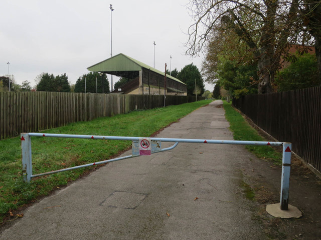 Track past the rugby ground