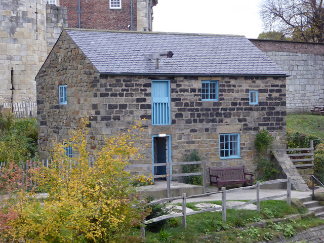 Preserved water mill, York Castle Museum