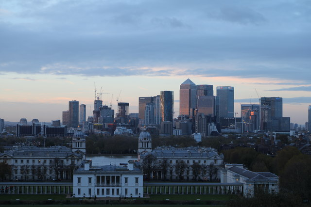 Isle of Dogs from Greenwich, Greenwich
