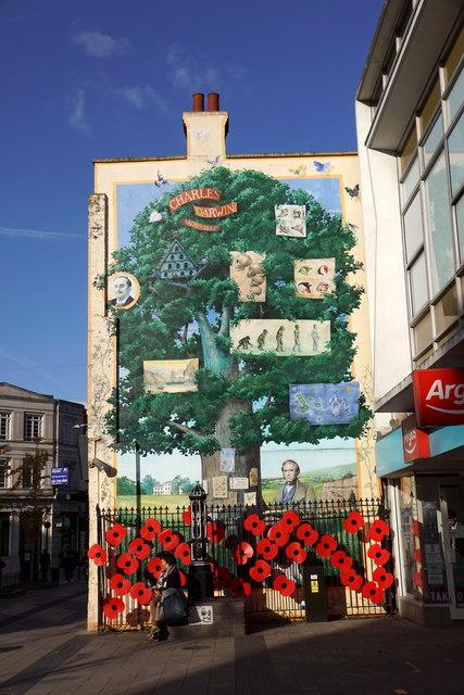 Darwin mural, Bromley High Street
