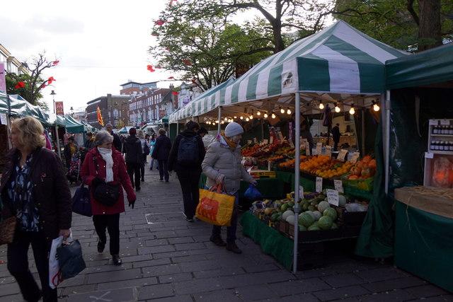 Market stalls, Bromley High Street