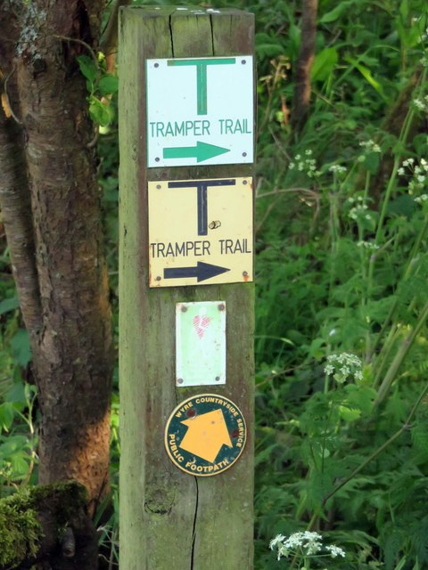 Signpost in the Wyre Estuary Country Park