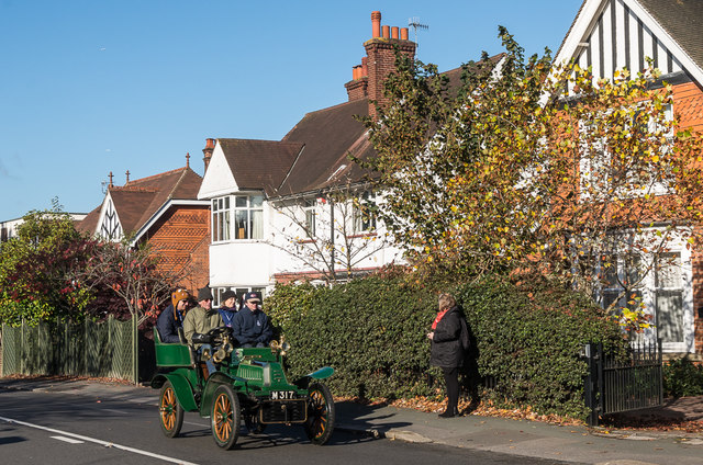 London to Brighton Veteran Car Run 2017 on Reigate Road