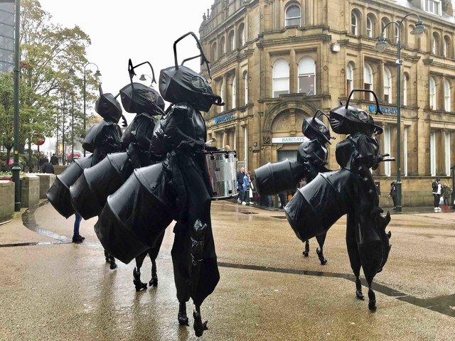 Giant Drumming Ants (2), High Street, Oldham