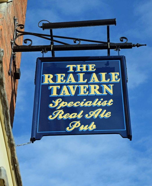 The Real Ale Tavern (2) - sign, 67 Load Street, Bewdley, Worcs