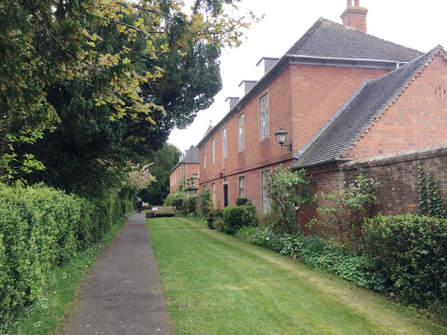 The path to the church – and the tearoom, Temple Balsall