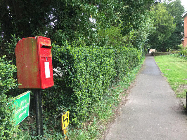 Postbox for the almshouses, Temple Balsall