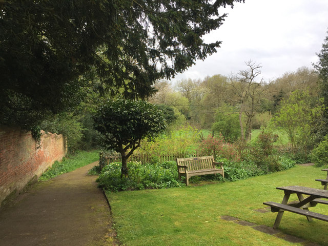 A corner of the garden by the Templars Hall, Temple Balsall