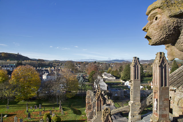 A view from Melrose Abbey