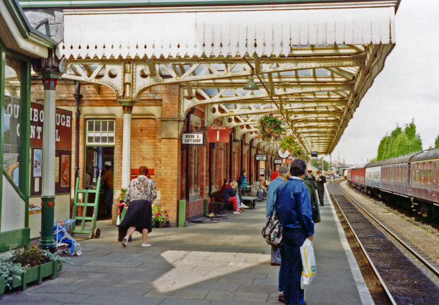 Loughborough Central station, Great Central (Heritage) Railway, 1992