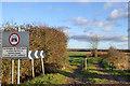TL1482 : Seasonally restricted public byway by Robin Webster