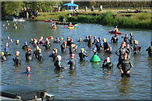 SP4408 : Openwater Swimmers, Eynsham Lock by N Chadwick