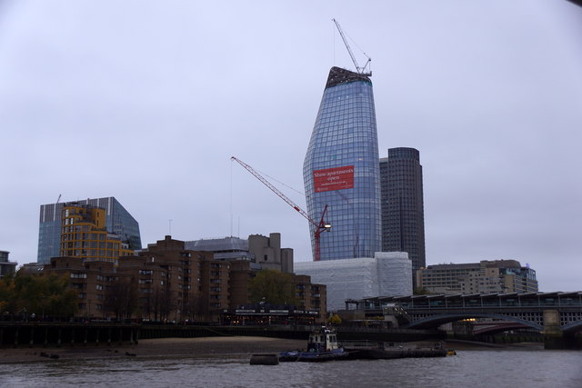 Blackfriars Bridge and One Blackfriars tower, London