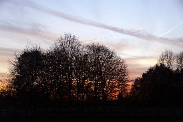 Sunset from Horton Park car park