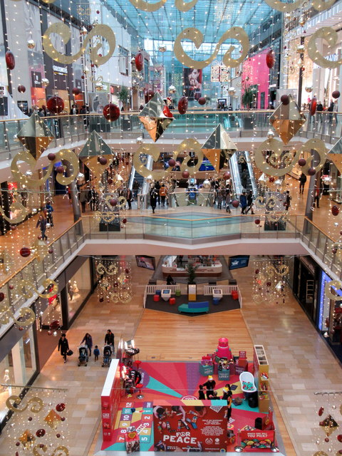 Bull Ring Shopping Centre at Christmas 2017
