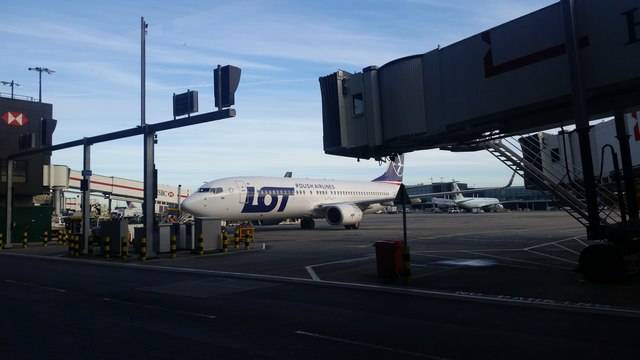 Polish aircraft at Terminal 2, Heathrow