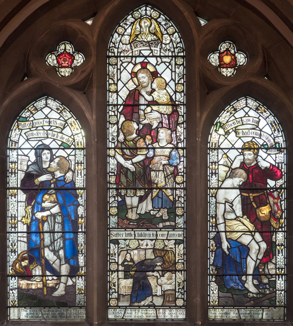 All Saints, Woodford Wells - Stained glass window