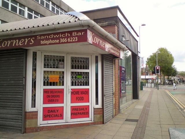 Korners Sandwich Shop closed