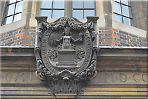 TL4558 : Coat of Arms, The Downing Site by N Chadwick