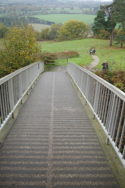 Modern bridge - Beeston Castle