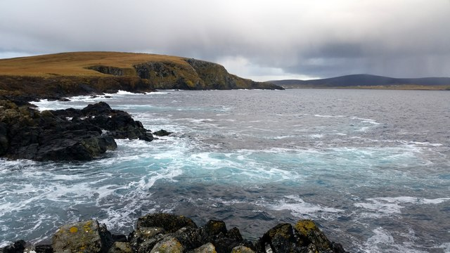 Keen of Hamar from the end of Swinna Ness, Baltasound