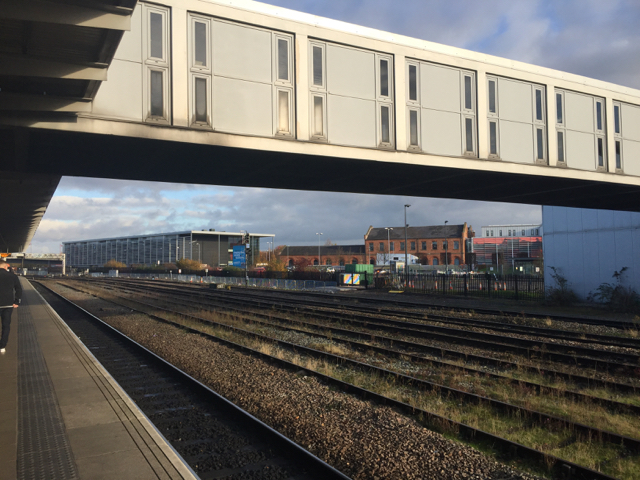 A view north-northeast from platform 6A, Derby station