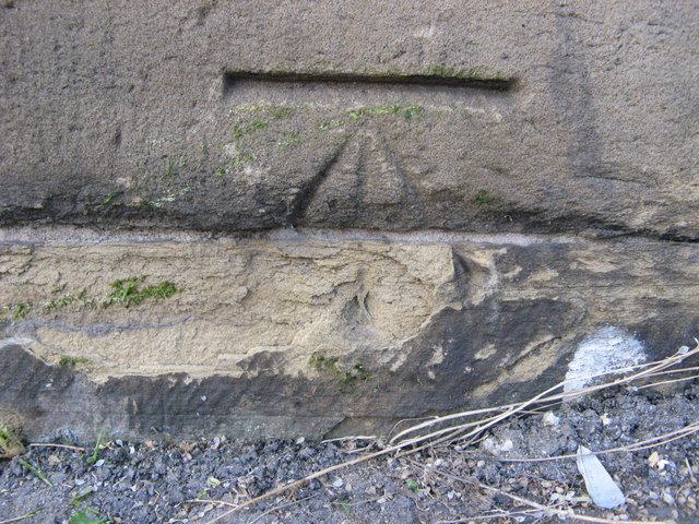 OS Cut Benchmark on 339 Wakefield Road
