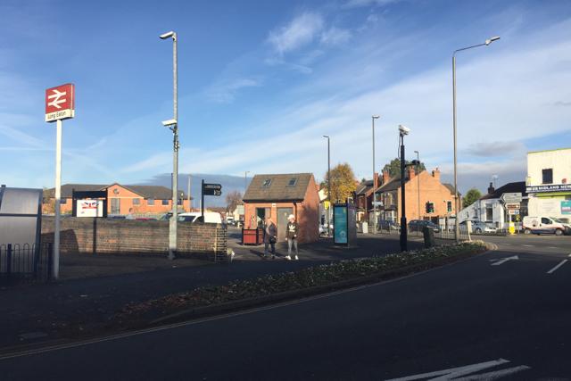 Outside the railway station, Long Eaton