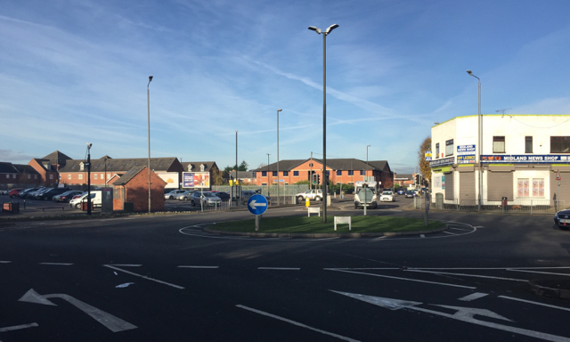 Roundabout near the railway station, Long Eaton
