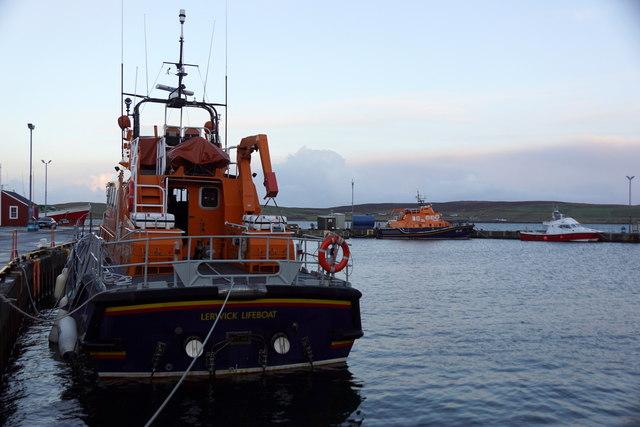 Two lifeboats at Lerwick
